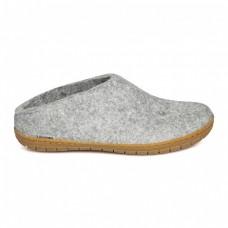 Glerups slipper met rubber zool - grijs