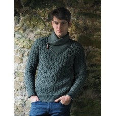 West End Knitwear - herentrui met V-hals en rits