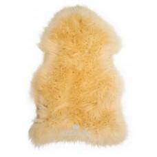 Texelana geverde schapenvacht geel