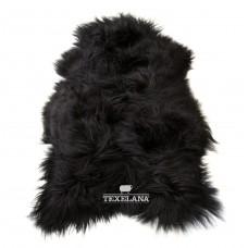 IJslander schapenvacht zwart/langharig