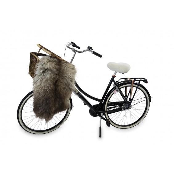 Texelana   zadeldekje voor fietszadel van schapenvacht
