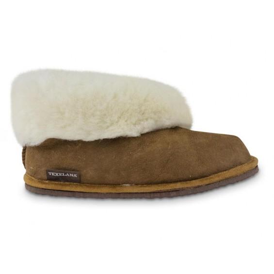 Pantoffel van schapenvacht   Model Texla