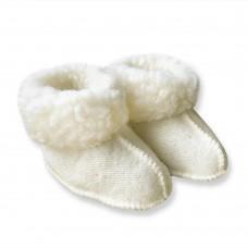 Baby pantoffel van schapenwol | Yoko Wool Miki