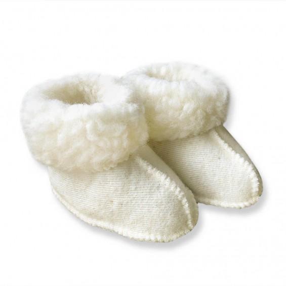 Yoko Wool - Miki   wollen babypantoffel